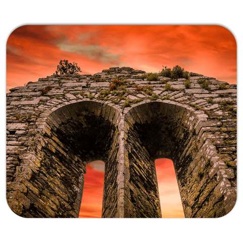 Mousepad - A Fleeting Sunrise Over 800 Years of History, County Clare - James A. Truett - Moods of Ireland - Irish Art