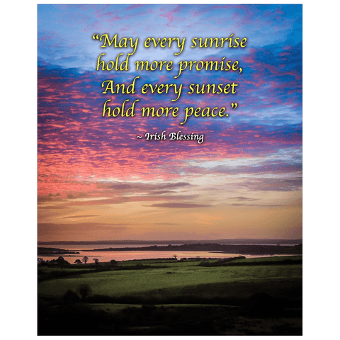 Print - May Every Sunrise Hold More Promise Irish Blessing Poster Print Moods of Ireland 16x20 inch
