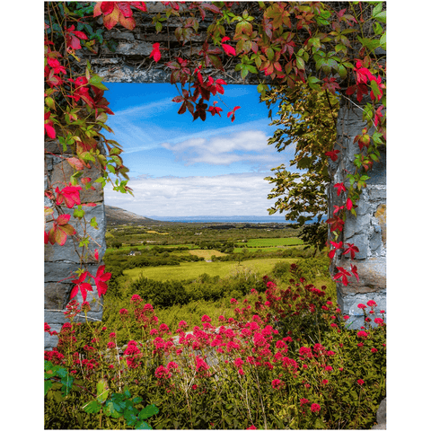 Print - Irish Countryside Vista through Ivy-laced Stone Doorway - James A. Truett - Moods of Ireland - Irish Art