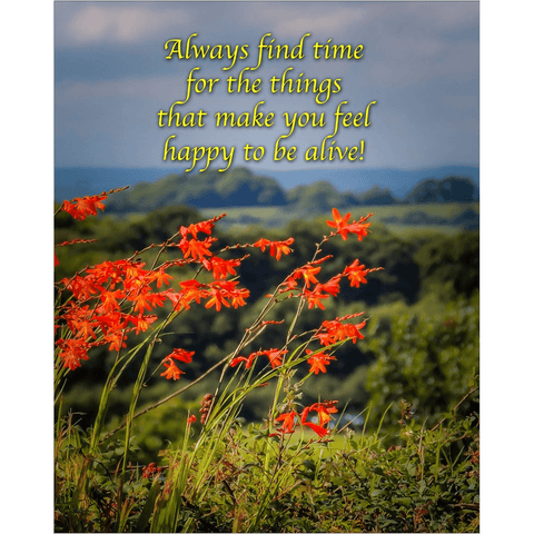 Irish Blessing Print - Always Make Time for the Things That Make you Feel Happy Poster Print Moods of Ireland 8x10 inch