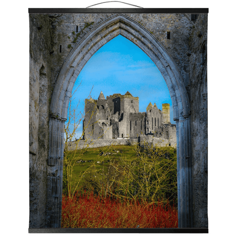 Wall Hanging - Ireland's Wall of Cashel National Monument, County Tipperary Wall Hanging Moods of Ireland 20x24 inch Black