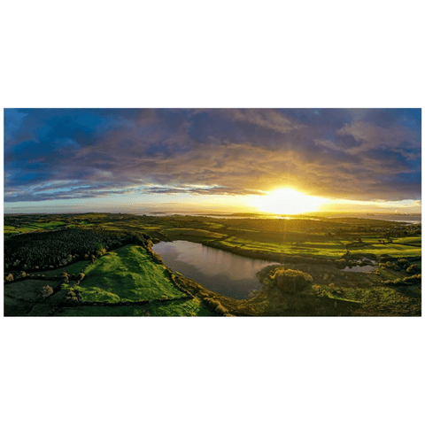 Panorama Print - Sunrise over Kildysart and Ballylean Lake, County Clare - James A. Truett - Moods of Ireland - Irish Art