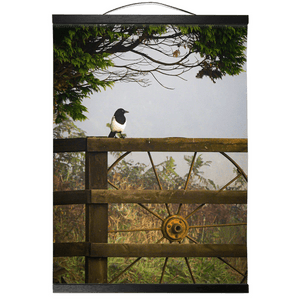 Irish Wall Hanging - Magpie in the Irish Mist, County Clare - James A. Truett - Moods of Ireland - Irish Art