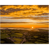 Print - Autumn Sunrise over Kildysart Village and Shannon Estuary Poster Print Moods of Ireland 8x10 inch