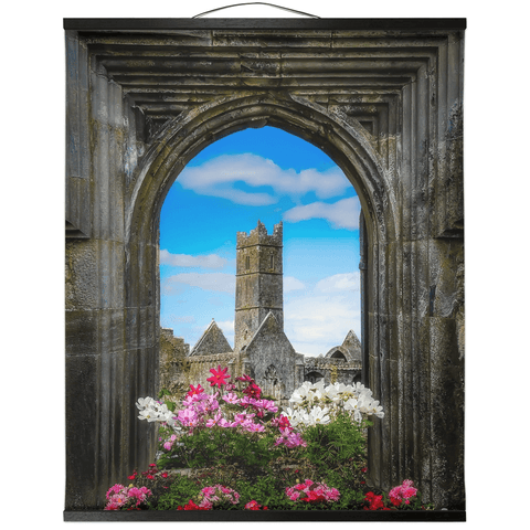 Image of Wall Hanging - Summer at Quin Abbey, County Clare - James A. Truett - Moods of Ireland - Irish Art