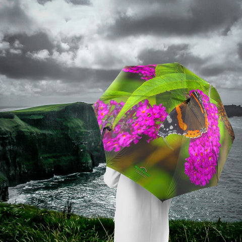 Image of Umbrellas - Butterfly at St. Martin's Well, Ballynacally Umbrella Moods of Ireland