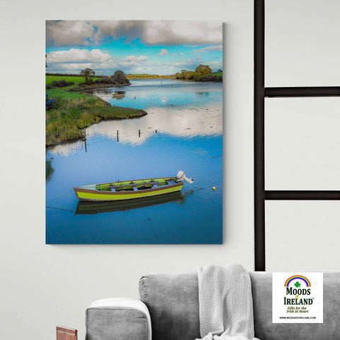 Image of Canvas Wrap - Shannon Estuary Reflections, County Clare - James A. Truett - Moods of Ireland - Irish Art