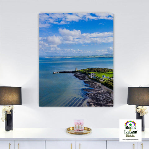 Image of Canvas Wrap - Carrigaholt Castle on the Shannon Estuary, County Clare - James A. Truett - Moods of Ireland - Irish Art