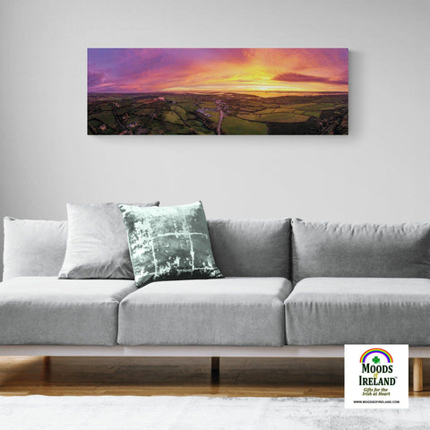 Panorama Canvas - November Sunrise over Kildysart, County Clare - James A. Truett - Moods of Ireland - Irish Art