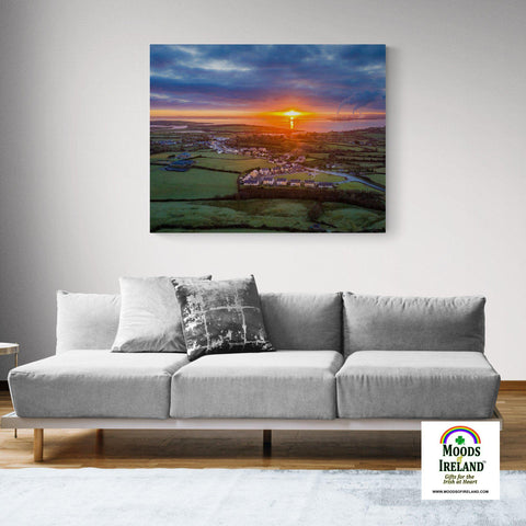 Canvas Wrap - December Sunrise over Shannon Estuary, County Clare - James A. Truett - Moods of Ireland - Irish Art