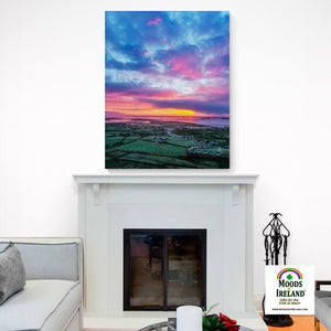 Canvas Wrap - Magical Sunrise over Kildysart, County Clare - James A. Truett - Moods of Ireland - Irish Art