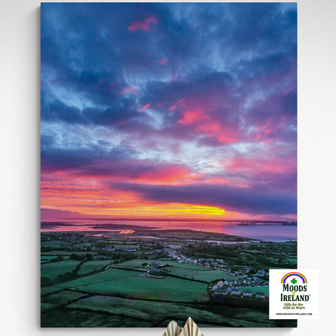 Image of Canvas Wrap - Magical Sunrise over Kildysart, County Clare - James A. Truett - Moods of Ireland - Irish Art