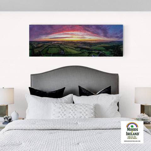 Panorama Canvas - Autumn Sunrise over Kildysart, County Clare - James A. Truett - Moods of Ireland - Irish Art