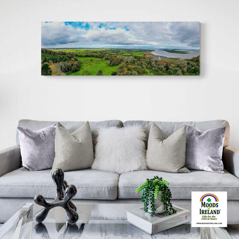 Panorama Canvas - Townland of Paradise and Ballynacally, County Clare - James A. Truett - Moods of Ireland - Irish Art