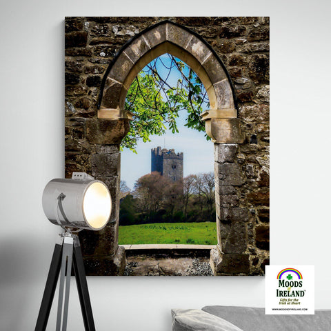 Image of Canvas Wrap - Medieval Vista of Dysert O'Dea Castle, County Clare - James A. Truett - Moods of Ireland - Irish Art