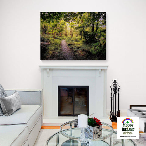 Canvas Wrap - Path in the Faerie Forest at Ballylee, County Galway - James A. Truett - Moods of Ireland - Irish Art