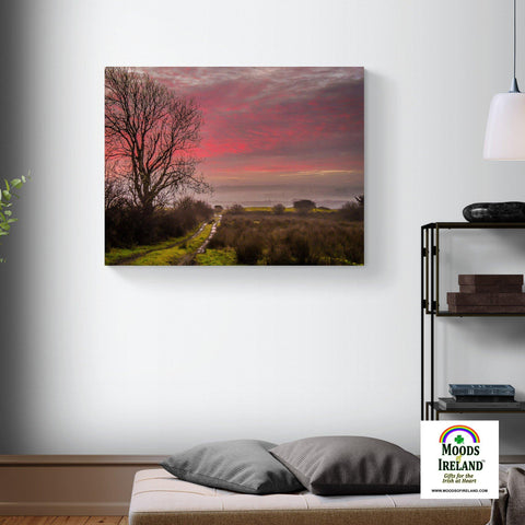 Image of Canvas Wrap - Sunrise over County Clare, Ireland - James A. Truett - Moods of Ireland - Irish Art