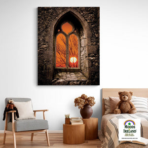 Canvas Wrap - Clare Abbey Sunrise in County Clare - James A. Truett - Moods of Ireland - Irish Art