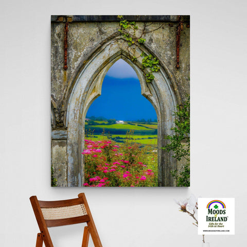 Image of Canvas Wrap - Doorway to Paradise and the Green Hills of County Clare - James A. Truett - Moods of Ireland - Irish Art