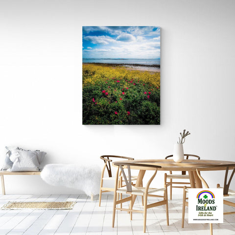 Canvas Wrap - Summer Wildflowers on Galway Bay - James A. Truett - Moods of Ireland - Irish Art