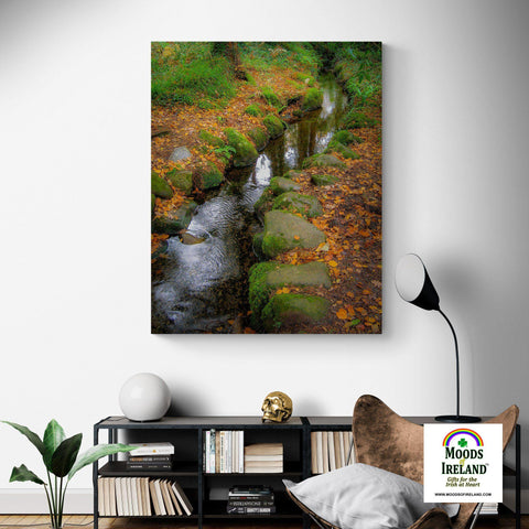 Canvas Wrap - Autumn Stream in Killarney National Park, County Kerry - James A. Truett - Moods of Ireland - Irish Art