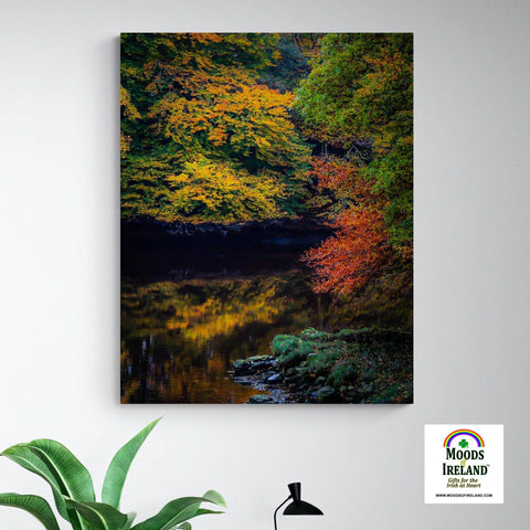 Image of Canvas Wrap - Autumn on Ireland's Cloon River, County Clare - James A. Truett - Moods of Ireland - Irish Art