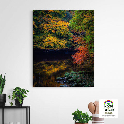 Canvas Wrap - Autumn on Ireland's Cloon River, County Clare - James A. Truett - Moods of Ireland - Irish Art