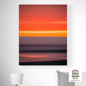 Canvas Wrap - Blurred Lines Abstract Irish Sunrise, County Clare - James A. Truett - Moods of Ireland - Irish Art