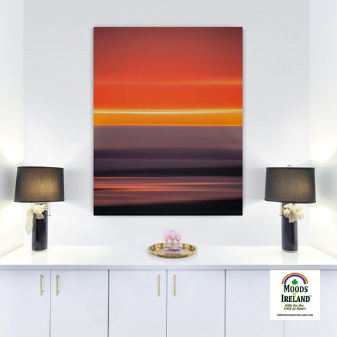 Image of Canvas Wrap - Blurred Lines Abstract Irish Sunrise, County Clare - James A. Truett - Moods of Ireland - Irish Art
