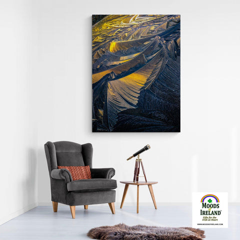 Image of Canvas Wrap - Sunrise in Ice Crystals, Abstract Wall Art - James A. Truett - Moods of Ireland - Irish Art