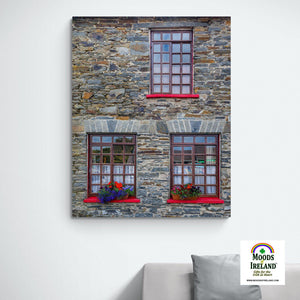 Canvas Wrap - Stone Building in Carrigaholt, County Clare - James A. Truett - Moods of Ireland - Irish Art