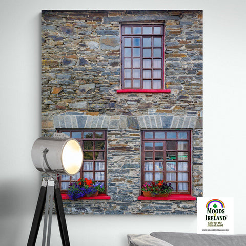 Image of Canvas Wrap - Stone Building in Carrigaholt, County Clare - James A. Truett - Moods of Ireland - Irish Art