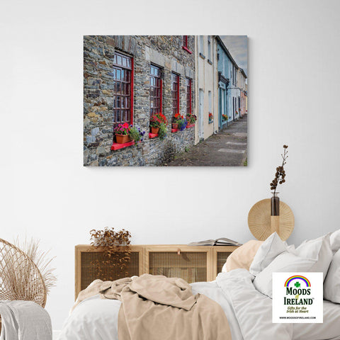 Image of Canvas Wrap - Colourful Carrigaholt Village, Loophead Peninsula, County Clare (Landscape) - James A. Truett - Moods of Ireland - Irish Art