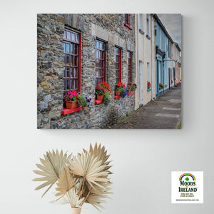 Canvas Wrap - Colourful Carrigaholt Village, Loophead Peninsula, County Clare (Landscape) - James A. Truett - Moods of Ireland - Irish Art