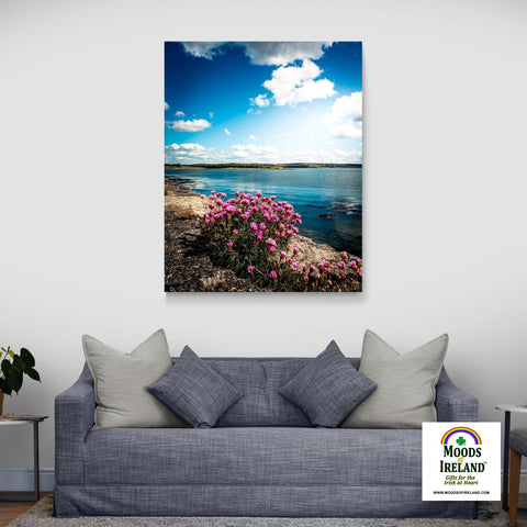 Canvas Wrap - Sea Pinks along Ireland's Shannon Estuary - James A. Truett - Moods of Ireland - Irish Art