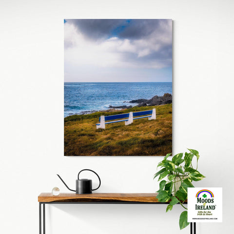 Canvas Wrap - Kilkee Bench along Wild Atlantic, County Clare - James A. Truett - Moods of Ireland - Irish Art