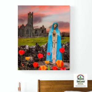 Canvas Wrap - Holy Mother at Quin Abbey, County Clare - James A. Truett - Moods of Ireland - Irish Art
