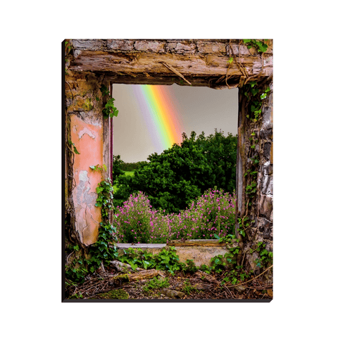 Image of Canvas Wraps - Rainbow in Paradise, County Clare, Ireland Canvas Wrap Moods of Ireland