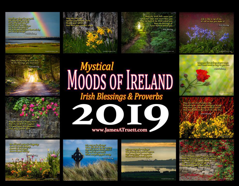 2019 irish blessings proverbs wall calendar tap to expand