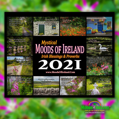 2021 Irish Blessings & Proverbs Wall Calendar - James A. Truett - Moods of Ireland - Irish Art