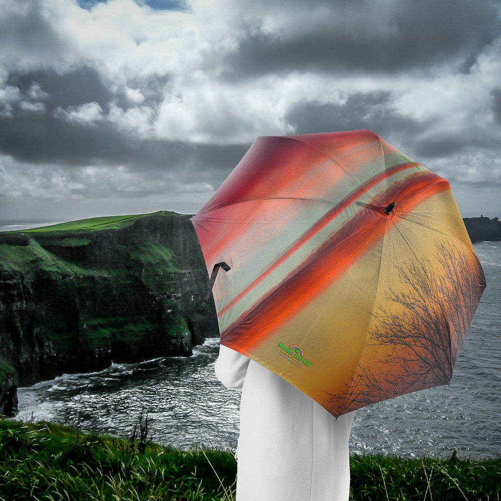 Umbrellas - Crimson Irish Sunrise Umbrella Moods of Ireland
