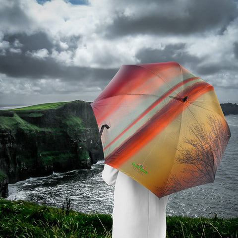 Image of Umbrellas - Crimson Irish Sunrise Umbrella Moods of Ireland