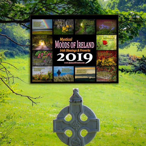 Image of 2019 Irish Blessings & Proverbs Wall Calendar