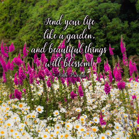 Image of Slate Plaque - Tend Your Life Like a Garden - James A. Truett - Moods of Ireland - Irish Art