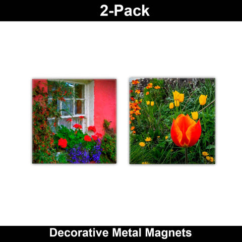 Metal Magnets - Irish Flowers Collection Metal Magnets Moods of Ireland 2x2 inch, 2 Pack
