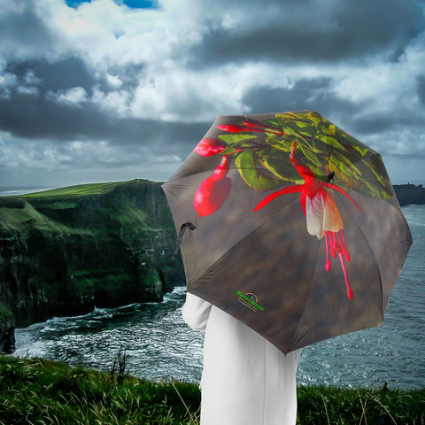 Image of Umbrellas - Fuchsia Flower Umbrella Moods of Ireland