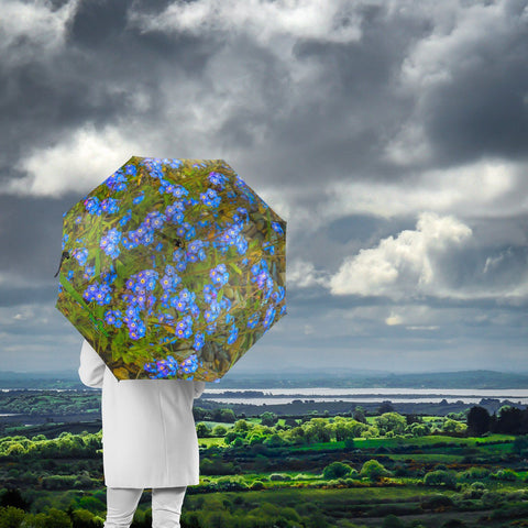 Umbrellas - Irish Forget-Me-Nots Umbrella Moods of Ireland