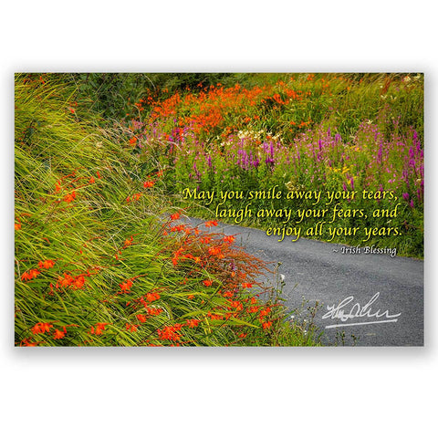 May Smile Away Your Tears, Irish Blessing Poster Poster Moods of Ireland