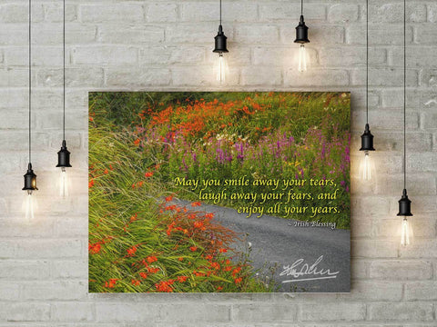 Image of May Smile Away Your Tears, Irish Blessing Poster Poster Moods of Ireland