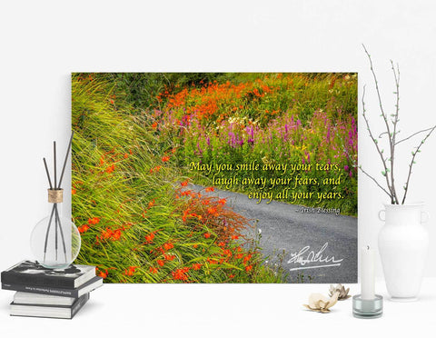 Image of May You Smile Away Your Tears, Irish Blessing Poster - James A. Truett - Moods of Ireland - Irish Art